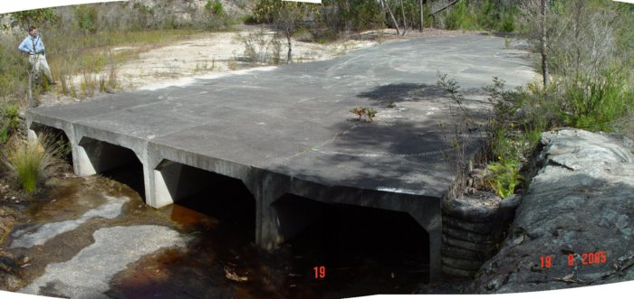 A fairly substantial culvert near the portal, at the 102.460km point.