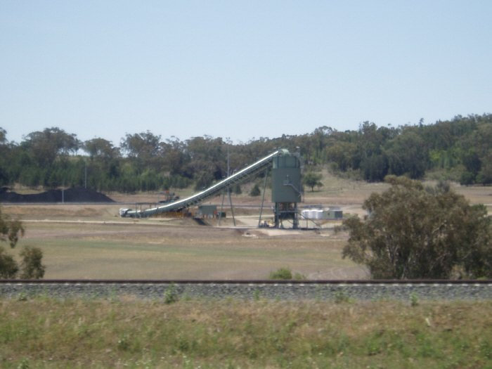 The coal loader at the recently constructed facility near Boggabri.