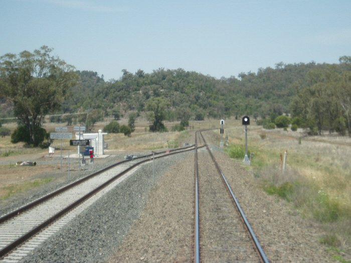 The view looking south towards the up end of the coal loader loop.