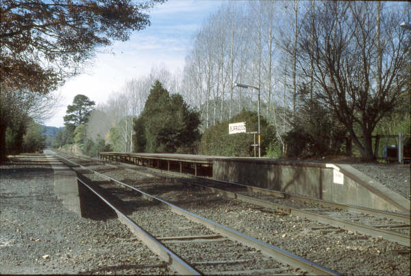 The stark Burradoo station in 1980.