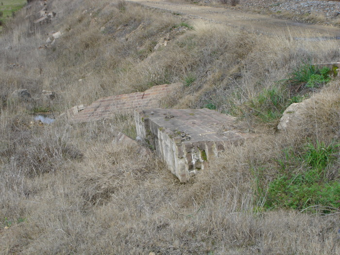 A closer view of the platform face remains.
