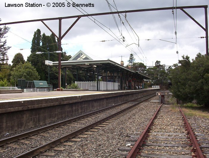 A view of the Down Main and platform 2 at Lawson. Also visible on right side of picture is the end of the down siding, now only used occasionally to store track machines when waiting to start or be collected after trackwork.