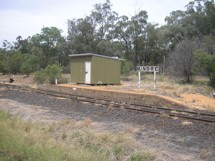 A view of the staff hut on the short platform.