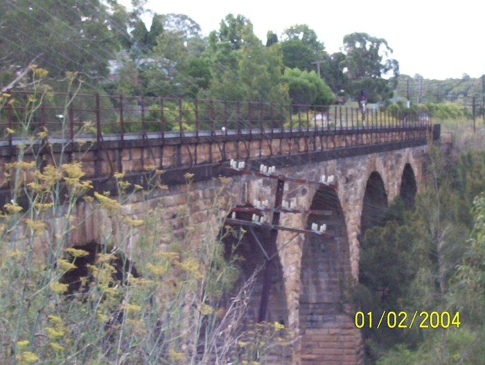 The viaduct on the south side of Picton station which was completed in 1865.