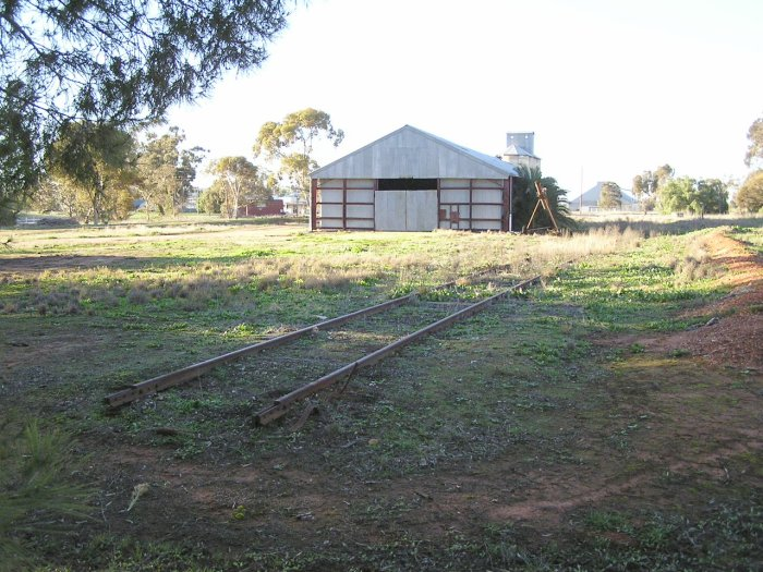 A closer view of the where the rails end, just north of Urana Road.