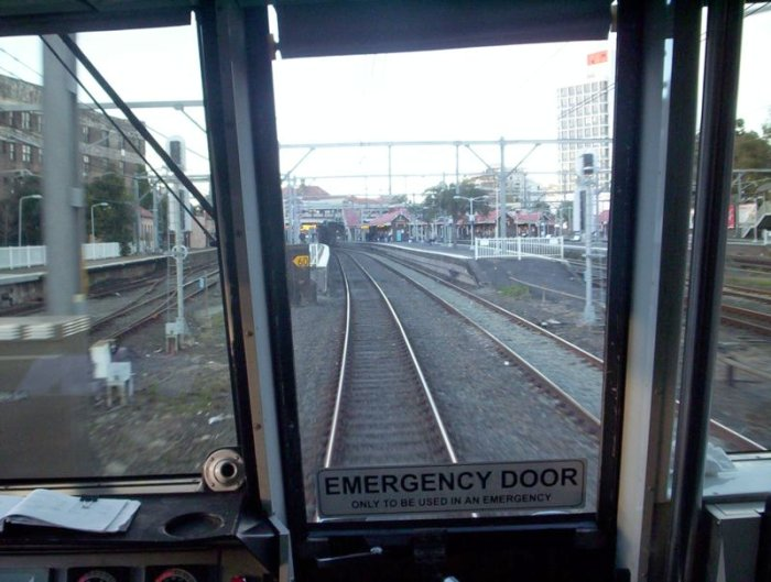 The view from an Up Tangara coming in to Redfern platform 3.