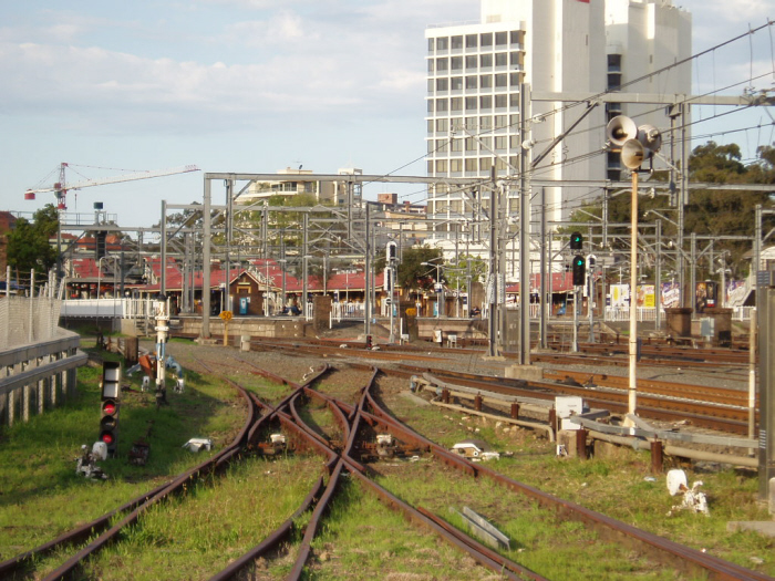 A view of Redfern Station from the Eveleigh Suburban Carriage Workshops.