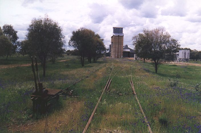 This view shows the approach to the silo from the north.